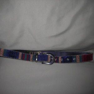 Ladies belt,sz.L,Elite ,Fresno,CA.cloth/leather
